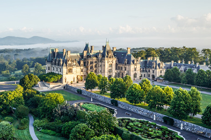 Biltmore house arial view
