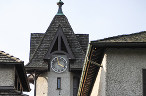 Clock tower at the Winery.