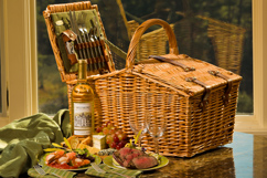 picnic basket with Biltmore wine