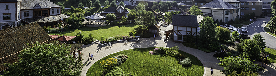 aerial view of antler hill village