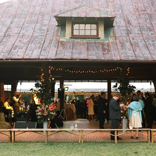 An outdoor event at the barn