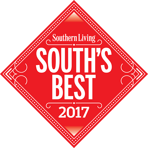 Red diamond logo Southern Living South's Best 2017