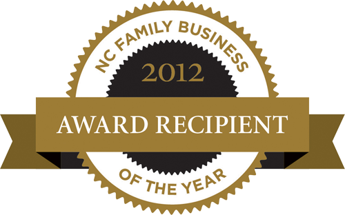 2012 North Carolina Family Business of the Year logo