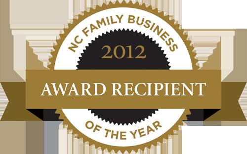 2012 North Carolina Family Business of the Year logo