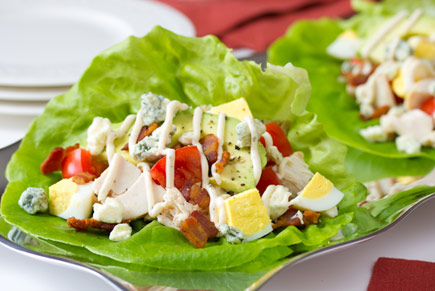 Turkey Cobb Lettuce Wraps