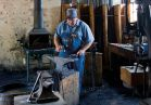 Watch our blacksmith at work as he demonstrates at his forge and answers questions.