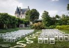 Enjoy gorgeous views of Biltmore House on the Tennis Lawn in this beautiful outdoor setting.  Photo by Woodward and Rick Photographers.