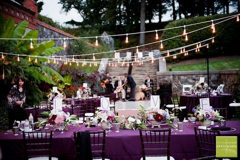 Purple-themed event set up
