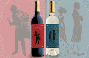 bottles of library series wines