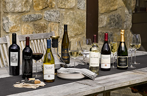 A collection of biltmore wines outdoors