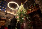 The Banquet Hall hosts a massive Fraser fir decked in hundreds of lights and decorations during Christmas at Biltmore.