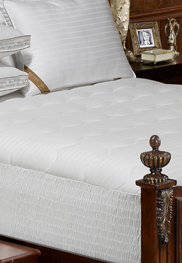 400 Thread Count Damask Stripe Mattress Pad