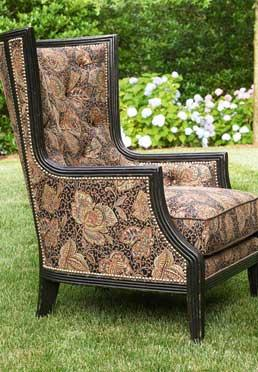 Comtesse Wing Chair & Ottoman