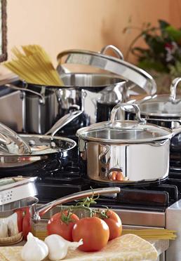 Gourmet Series 10-Piece Stainless Steel Cookware Set