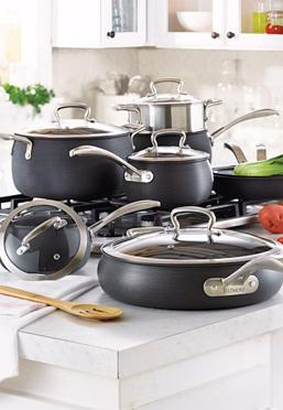 Belly Shaped Hard Anodized Aluminum Cookware