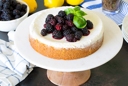 Blackberry Basil Cheesecake Topping