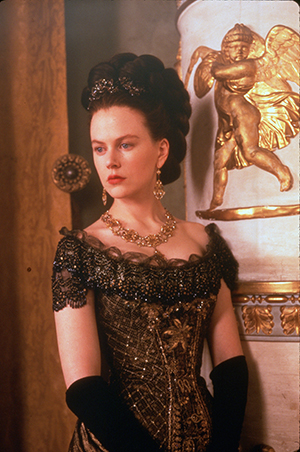 Portrait of a Lady screen still of Nicole Kidman in formal period costume
