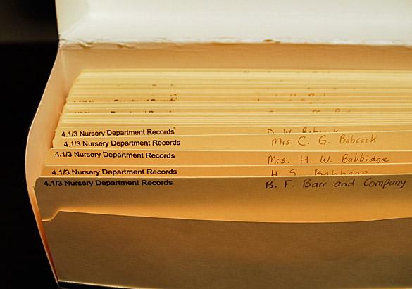 Nursery Dept. Records