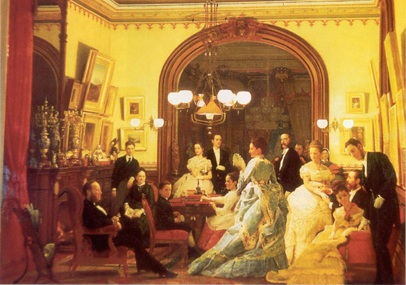 Going to the Opera by Seymour Guy, 1873