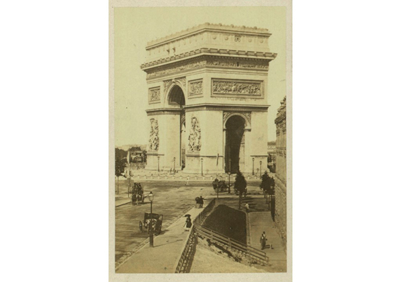 Photograph of the Arc de Triomphe from George Vanderbilt's collection, ca. 1885