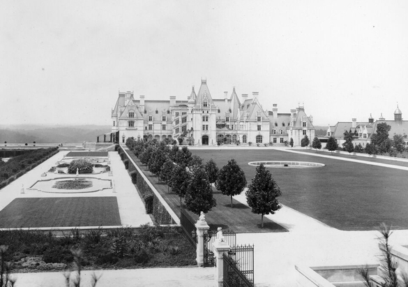 Photograph of Biltmore House from George Vanderbilt's collection, ca. 1910