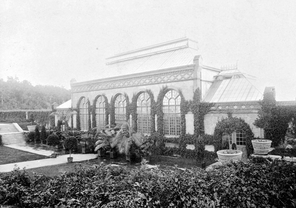 Photograph of the Conservatory from George Vanderbilt's collection, ca. 1910