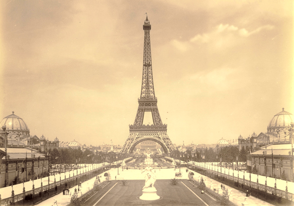 Photograph of the Eiffel Tower from George Vanderbilt's collection, ca. 1890