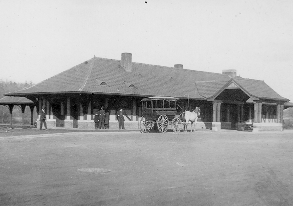 Photograph of the Biltmore Passenger Station from George Vanderbilt's collection, ca. 1899