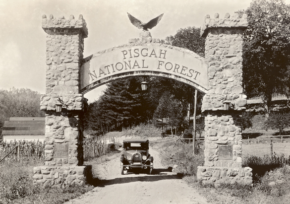 Photograph of Pisgah National Forest Entry Gate, ca. 1916-1936