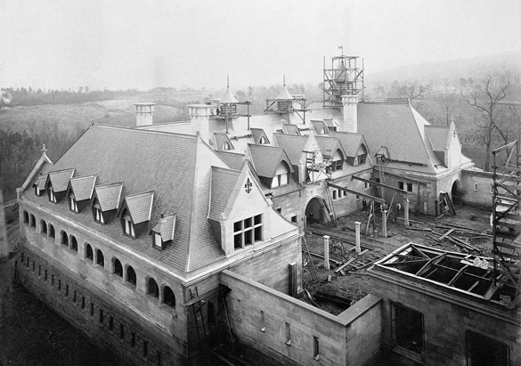 Photograph of the Stable Complex construction from George Vanderbilt's collection, ca. 1894