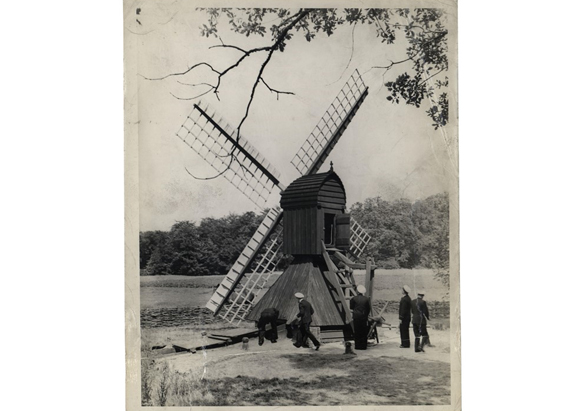 Photograph of a Dutch windmill taken by George Vanderbilt's grandson, William A. V. Cecil, ca. 1950