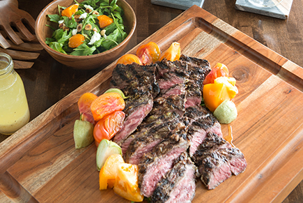 Tomatillo Marinated Grilled Skirt Steak