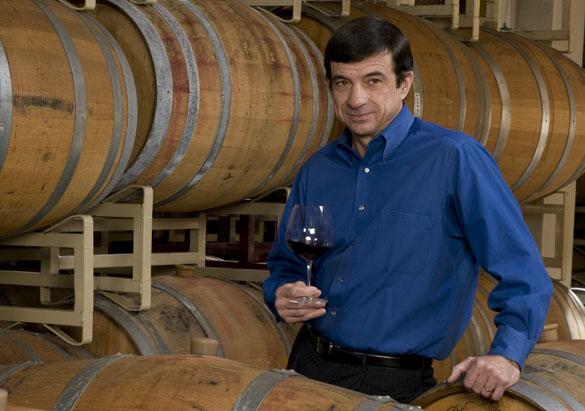 Bernard Delille in the Barrel Room at Biltmore's Winery