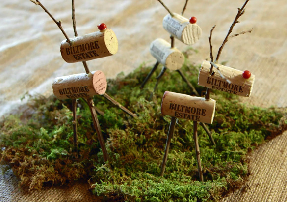 holiday decorations to your overall design and this season you can recreate a classic figure with a fresh new twist reindeer made from wine corks and