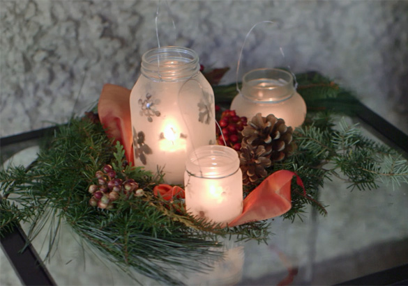 The official biltmore blog biltmore lanterns are a classic way to brighten up your holiday decorating but buying them in bulk can get pricey you can get this same look using glass jars and solutioingenieria Gallery