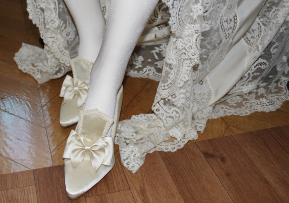 Shoes on a mannequin