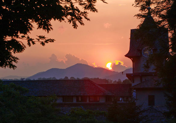 Biltmore Winery at sunset