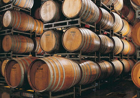 Biltmore wine stored in barrels