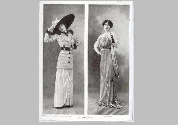 January 1912 Les Modes fashion magazine features a costume later used in the film Titanic