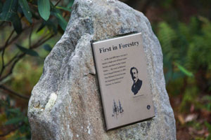 First in Forestry plaque with Gifford Pinchot