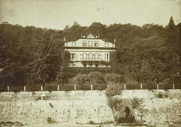 Exterior of Villa Vignolo, George and Edith's honeymoon villa overlooking Lake Maggiore near Stresa, Italy, 1898