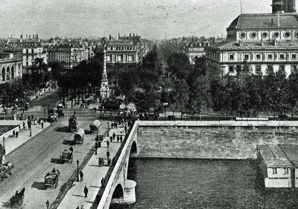 Place de Chalelet and Seine River, Paris, ca. 1898