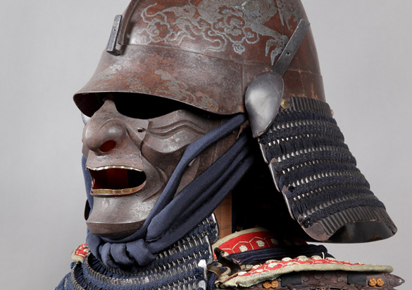 Samurai warrior armor from Japan's Edo period (1615-1868)
