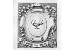 George Vanderbilt's personal bookplate