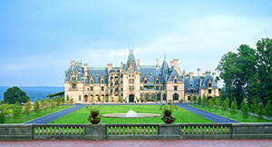 Biltmore House in the summer