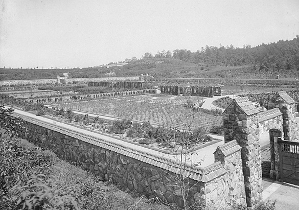 The Vegetable and Flower Garden (now the Walled Garden), circa 1895