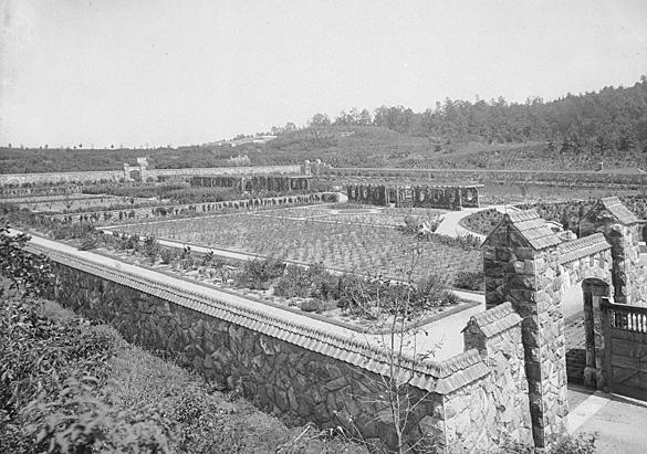 The Vegetable and Flower Garden (now the Walled Garden), circa 1895