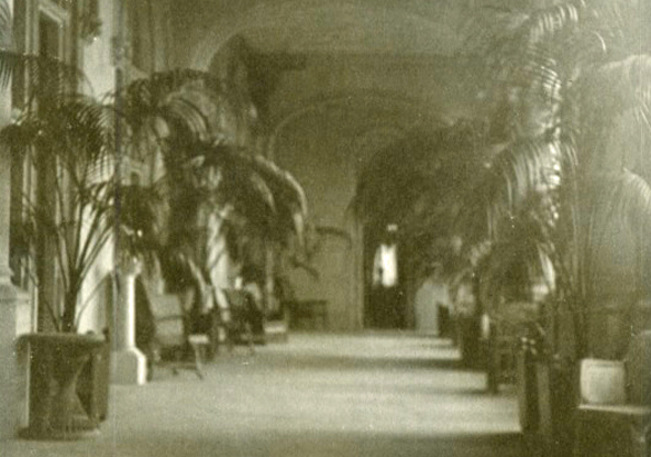 Archival image of Library Den door from Loggia, 1900
