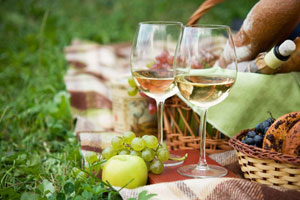 Spring picnic with Biltmore wines