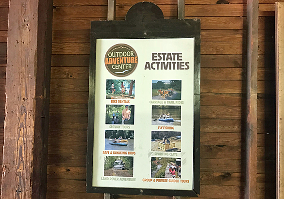 Estate Activities sign